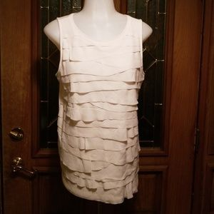 Cream sleeveless shell